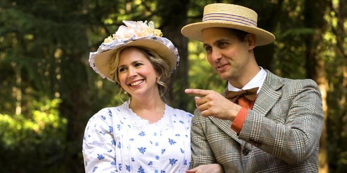 Couple dressed in period attire