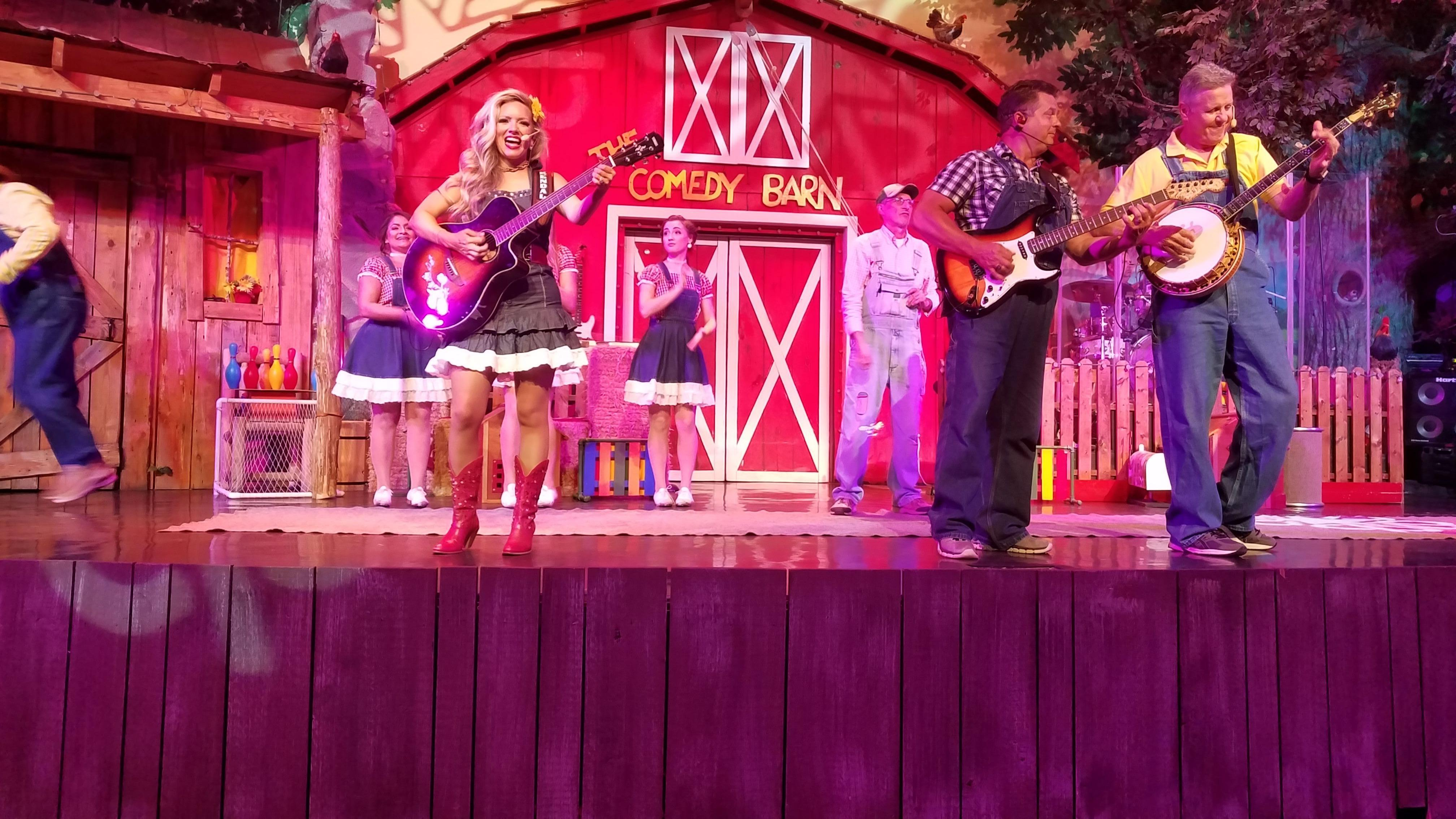 Performing at the Comedy Barn Pigeon Forge