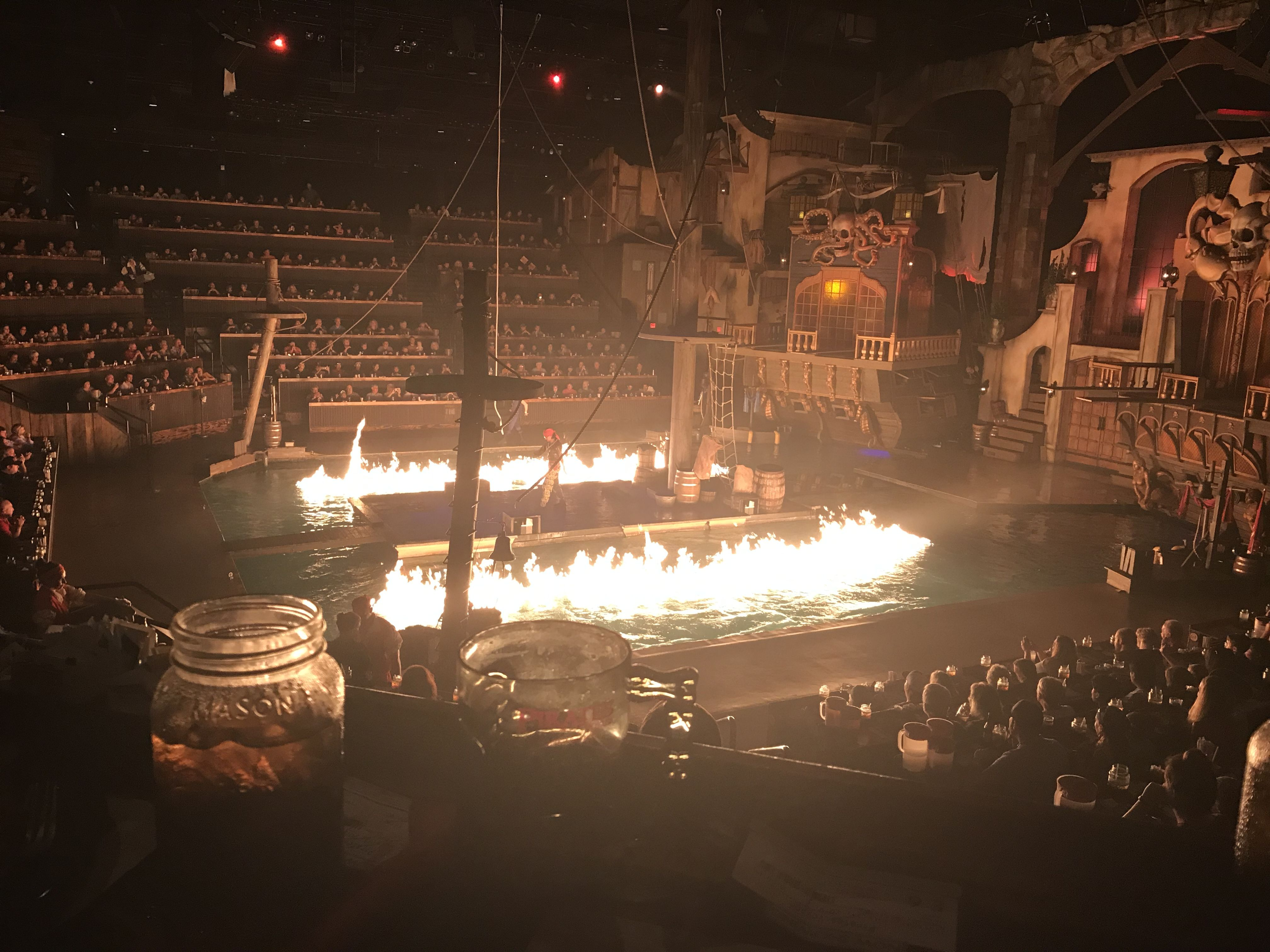 Water on Fire at Pirates Voyage Dinner and Show Pigeon Forge