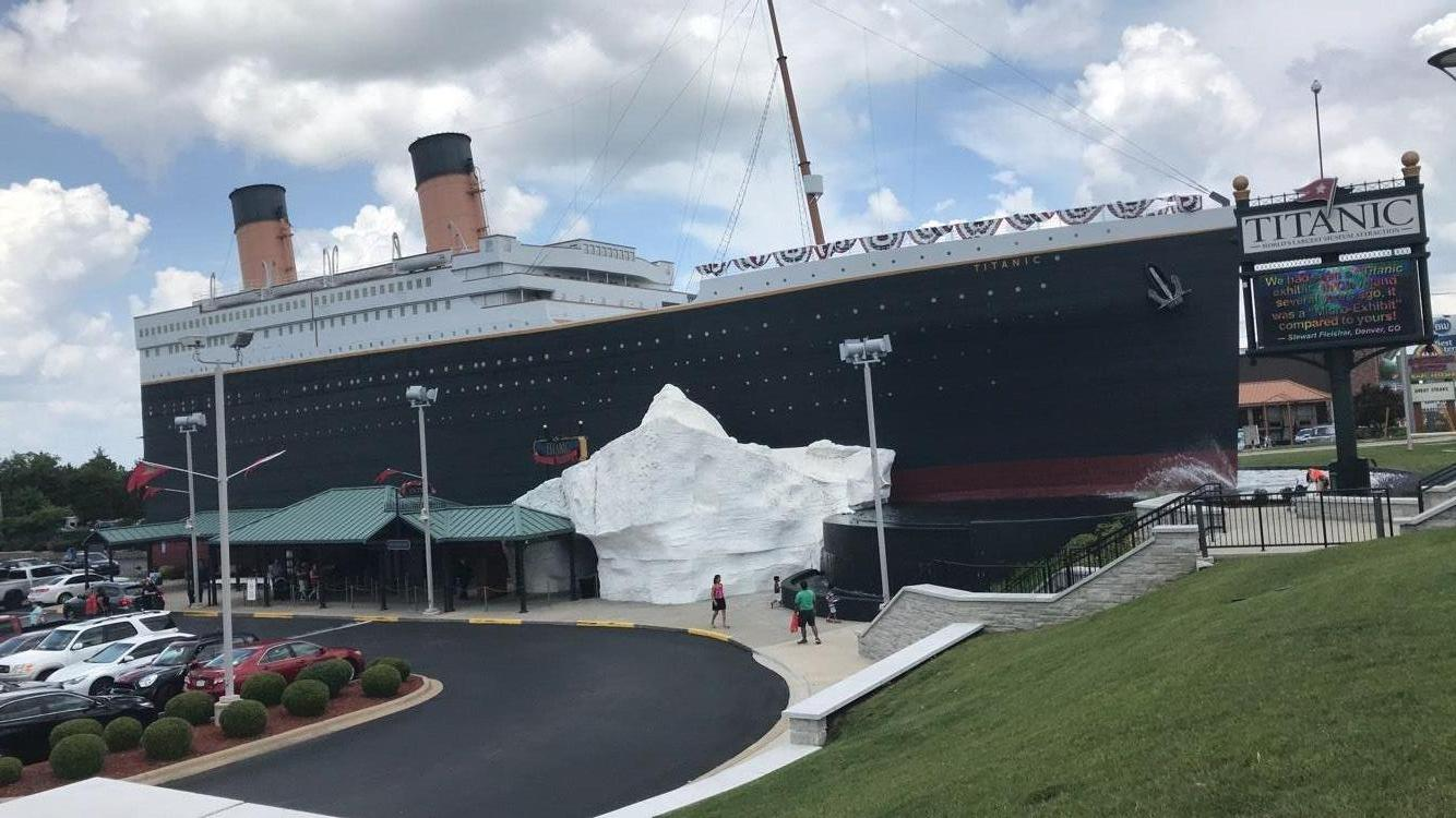 Exterior of the Branson Titanic World's Largest Museum Attraction