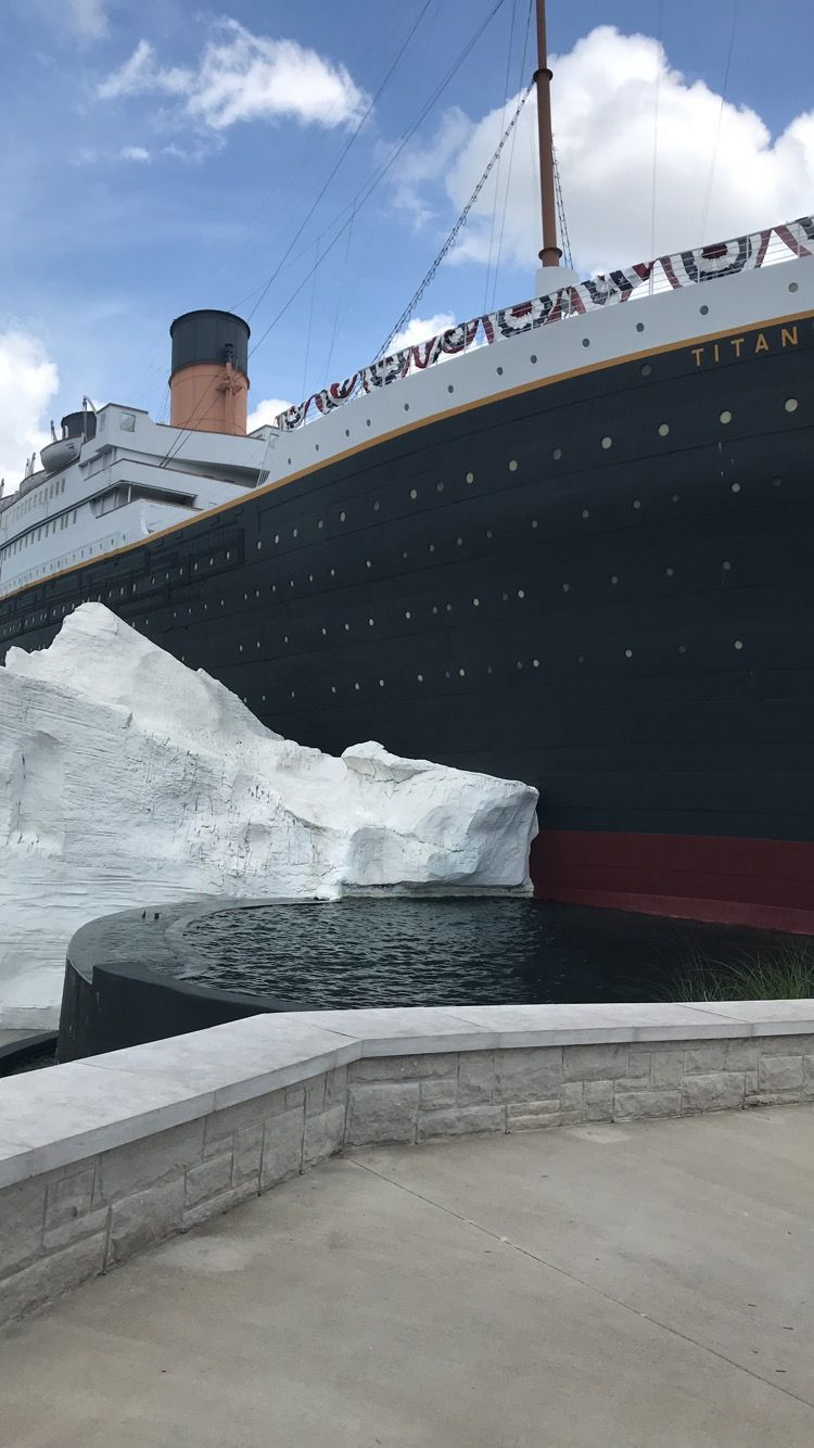 Outside of the Branson Titanic World's Largest Museum Attraction