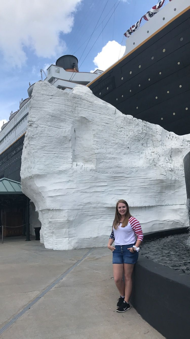 By the Iceburg at the Branson Titanic World's Largest Museum Attraction