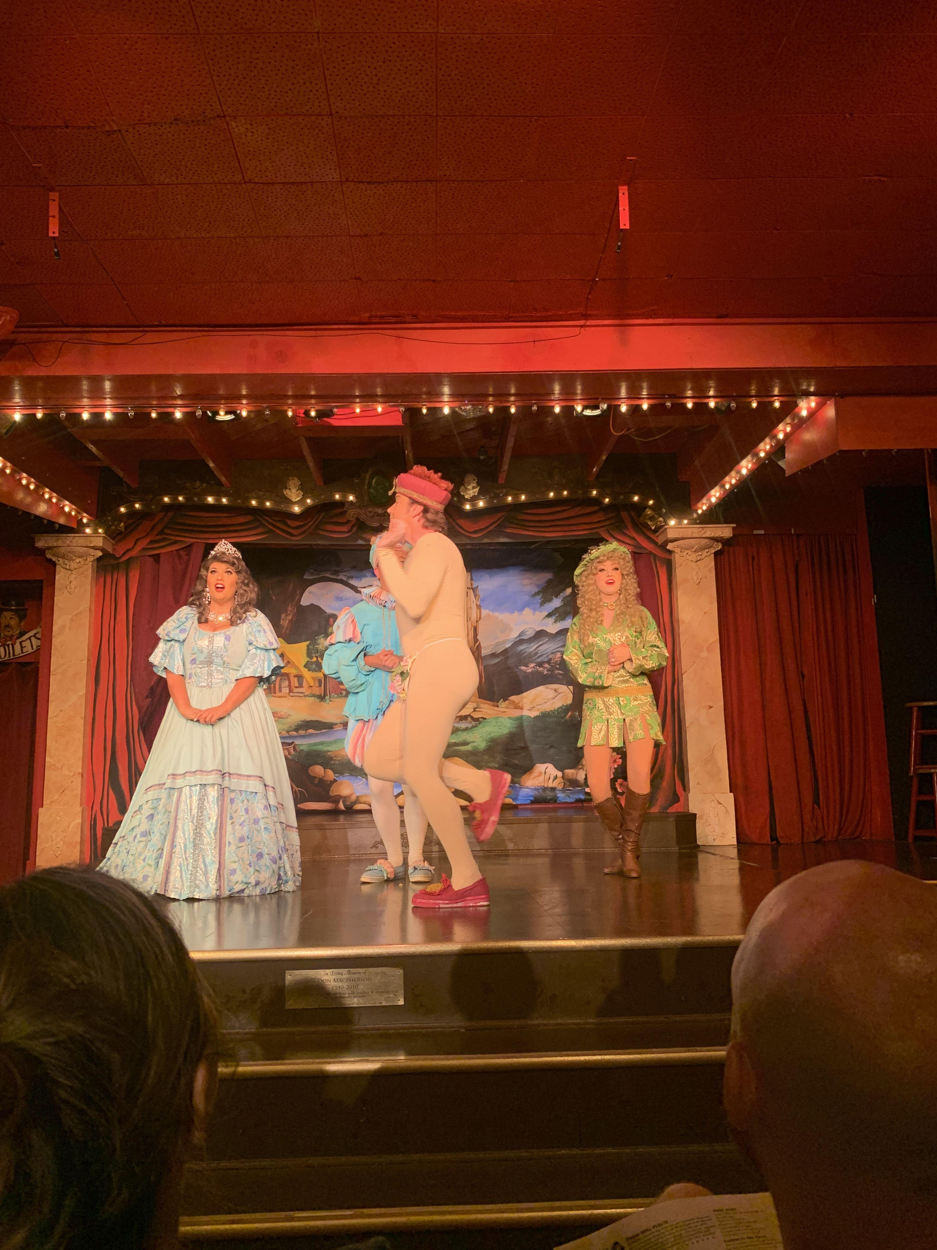 Performance at the Sweet Fanny Adams Theatre