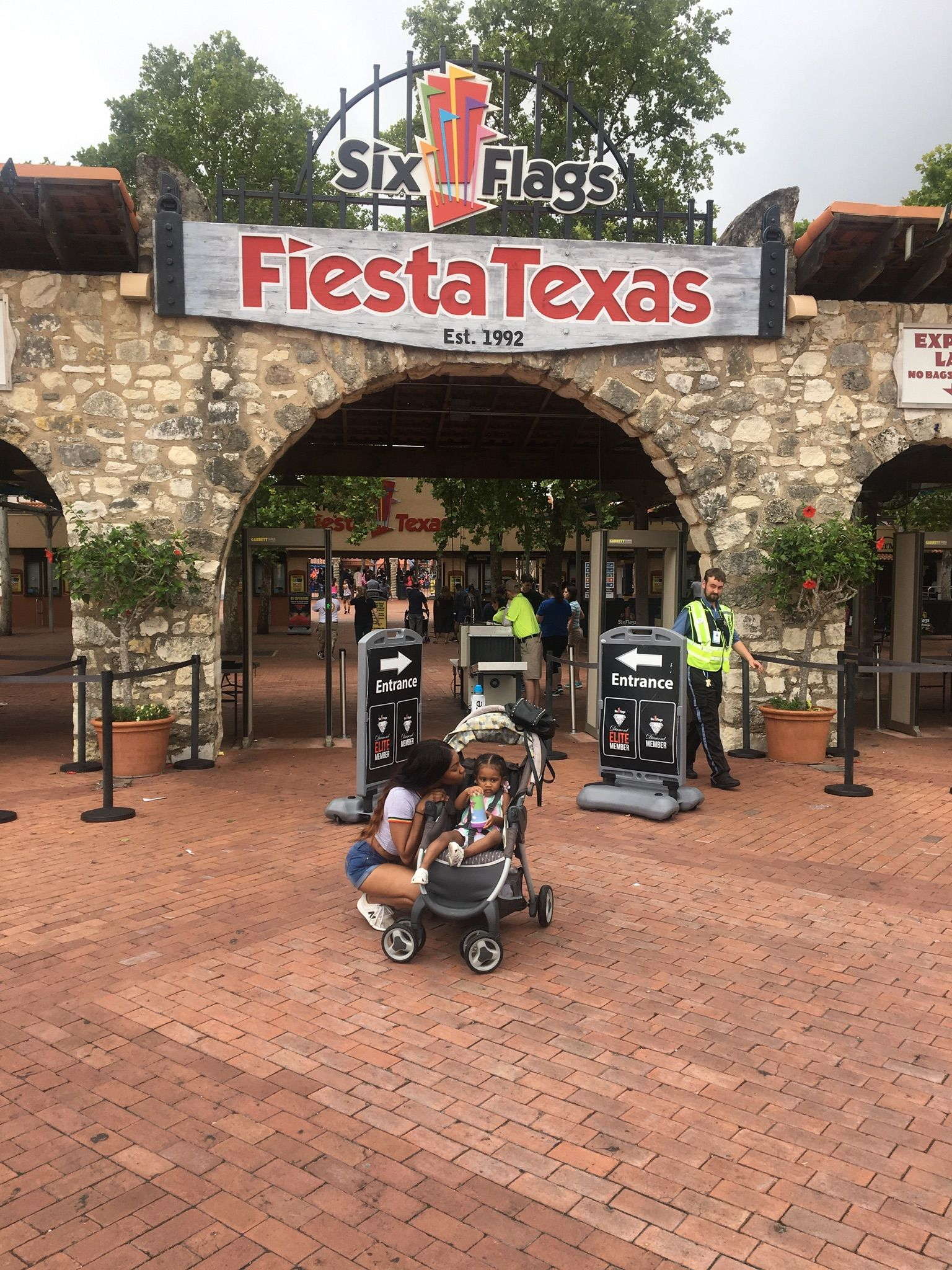 Mother Daughter at the Six Flags Fiesta Texas