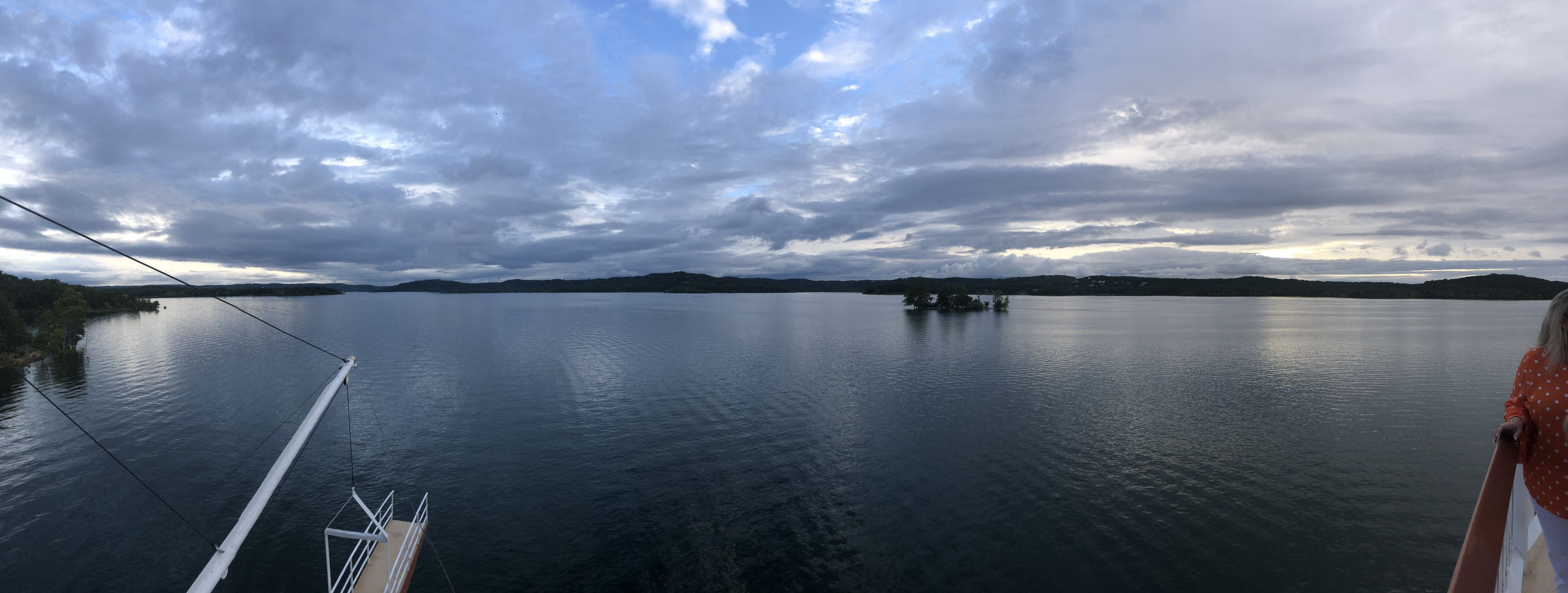 Panoramic View of the Lake on the Showboat Branson Belle Lunch and Dinner Cruises