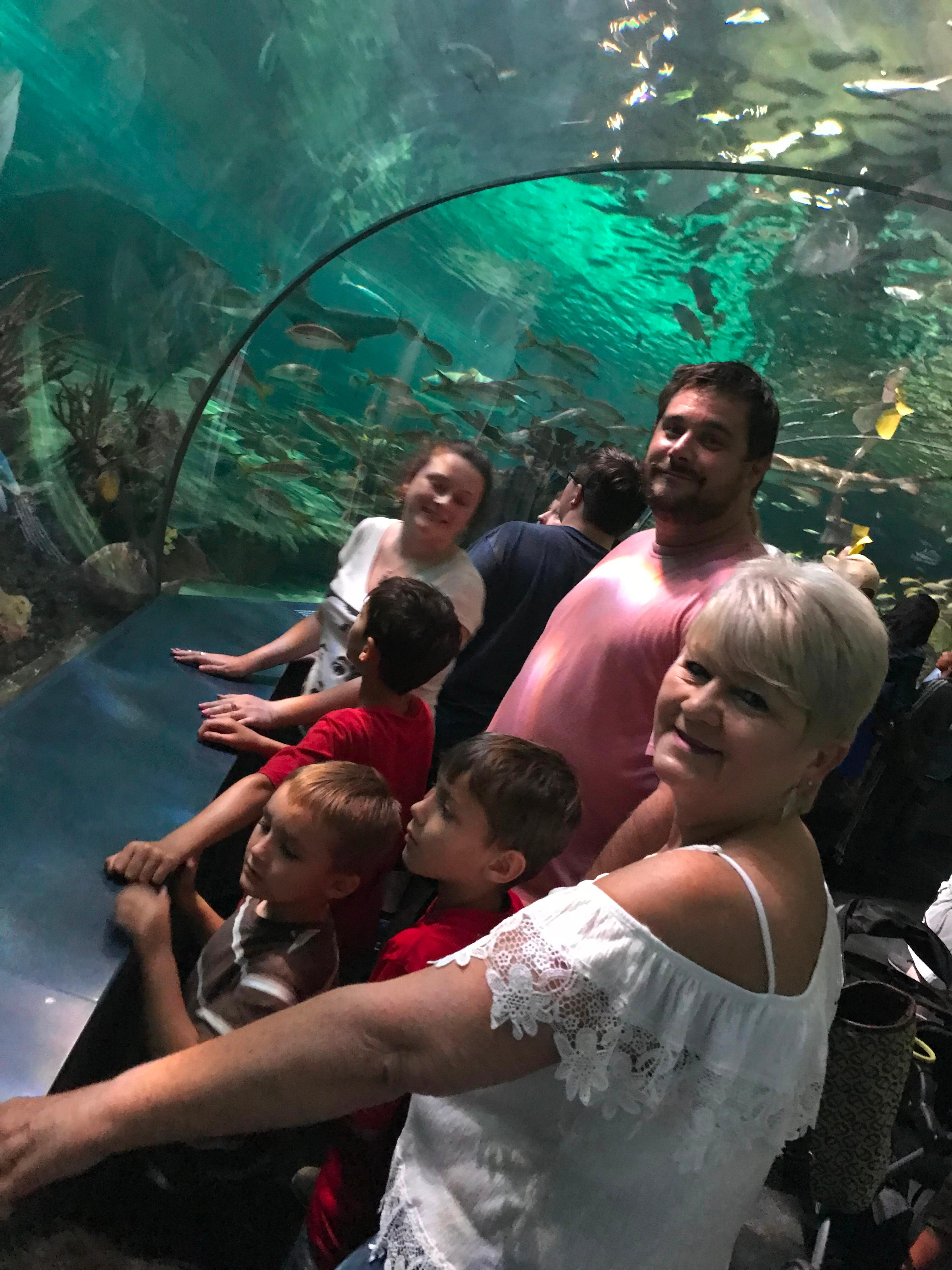 Family at Ripleys Aquarium of the Smokies
