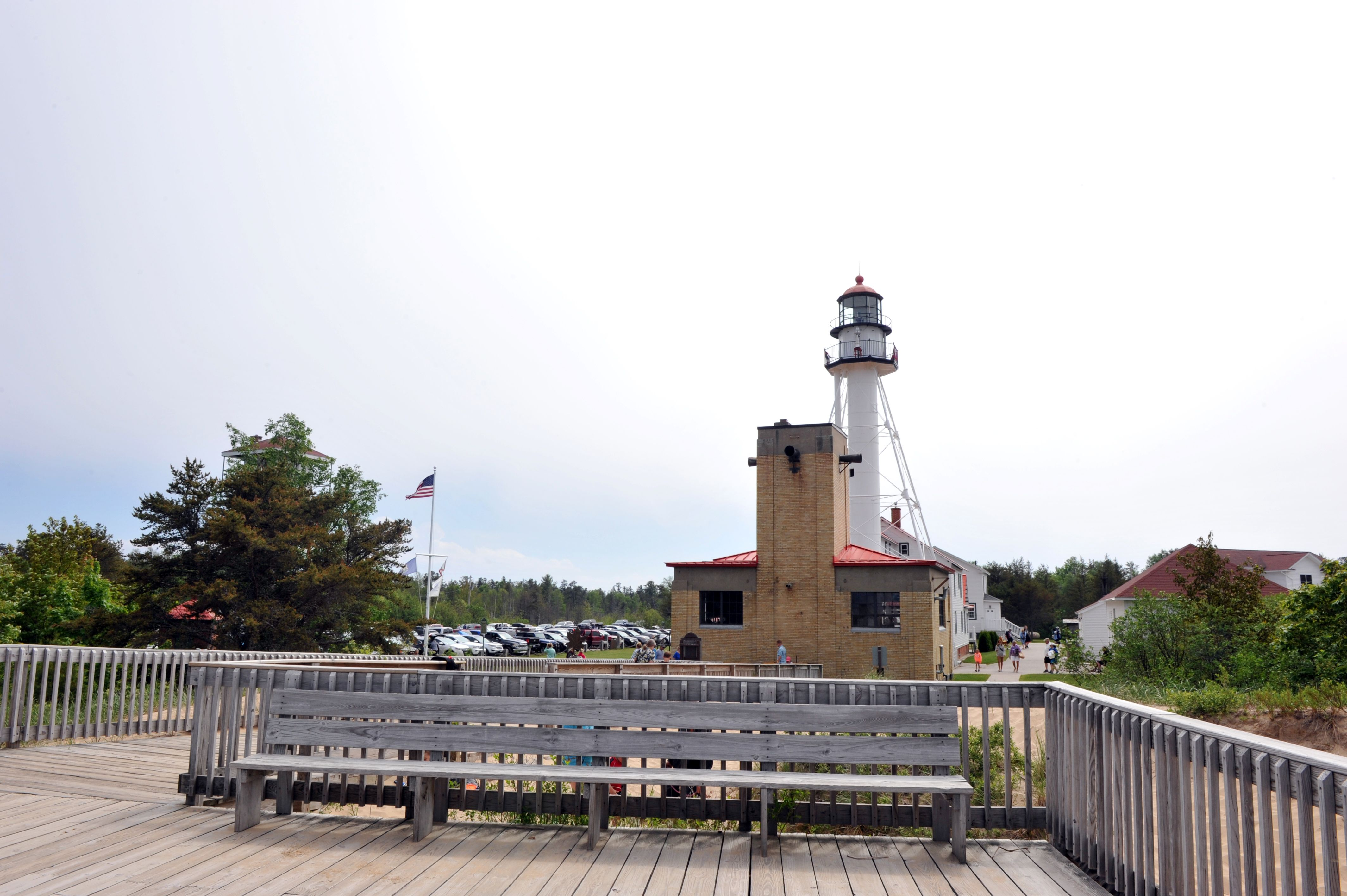 Boardwalk on the Great Lakes Shipwreck Museum and Whitefish Point Light Station