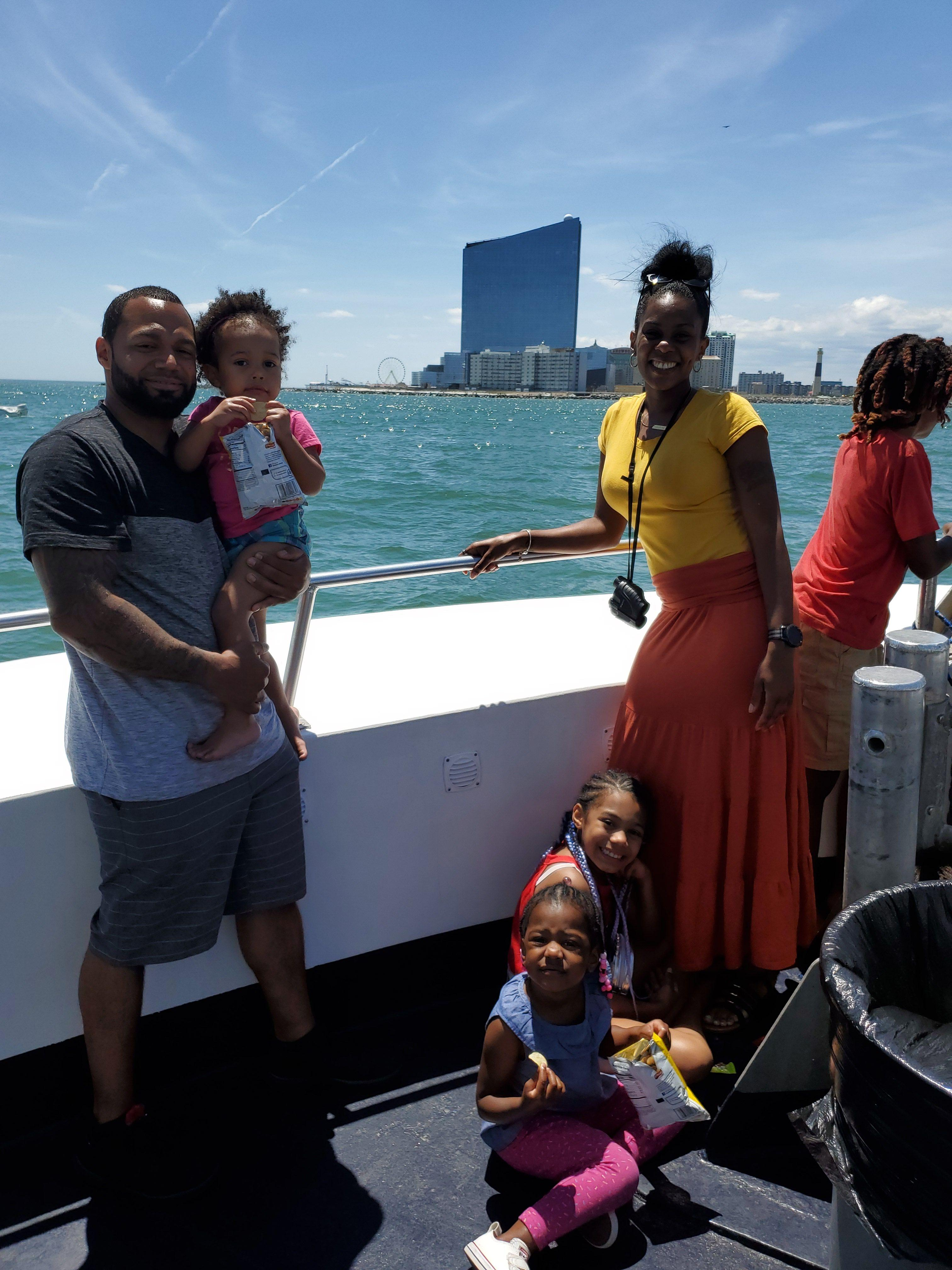 Family on the Atlantic City Dolphin Watching Cruise