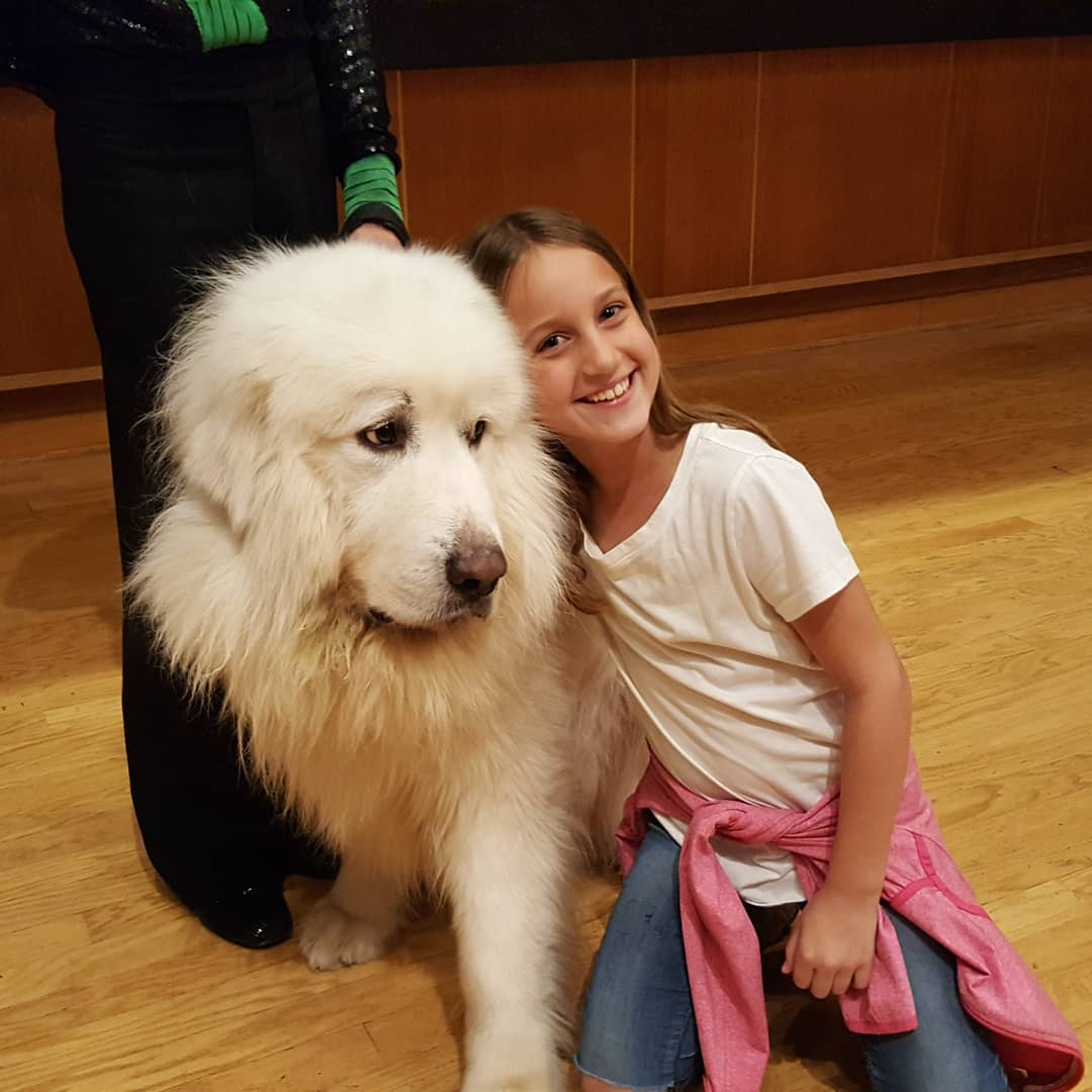 With a Dog at the Rick Thomas Illusionist and Magic Show