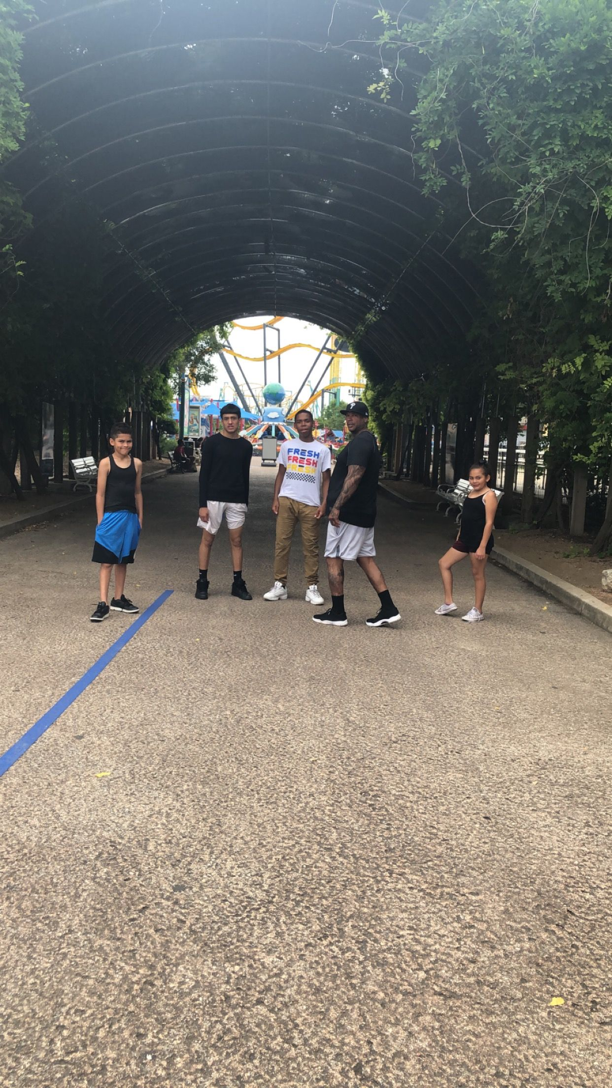 At Six Flags on the San Antonio Explorer Pass