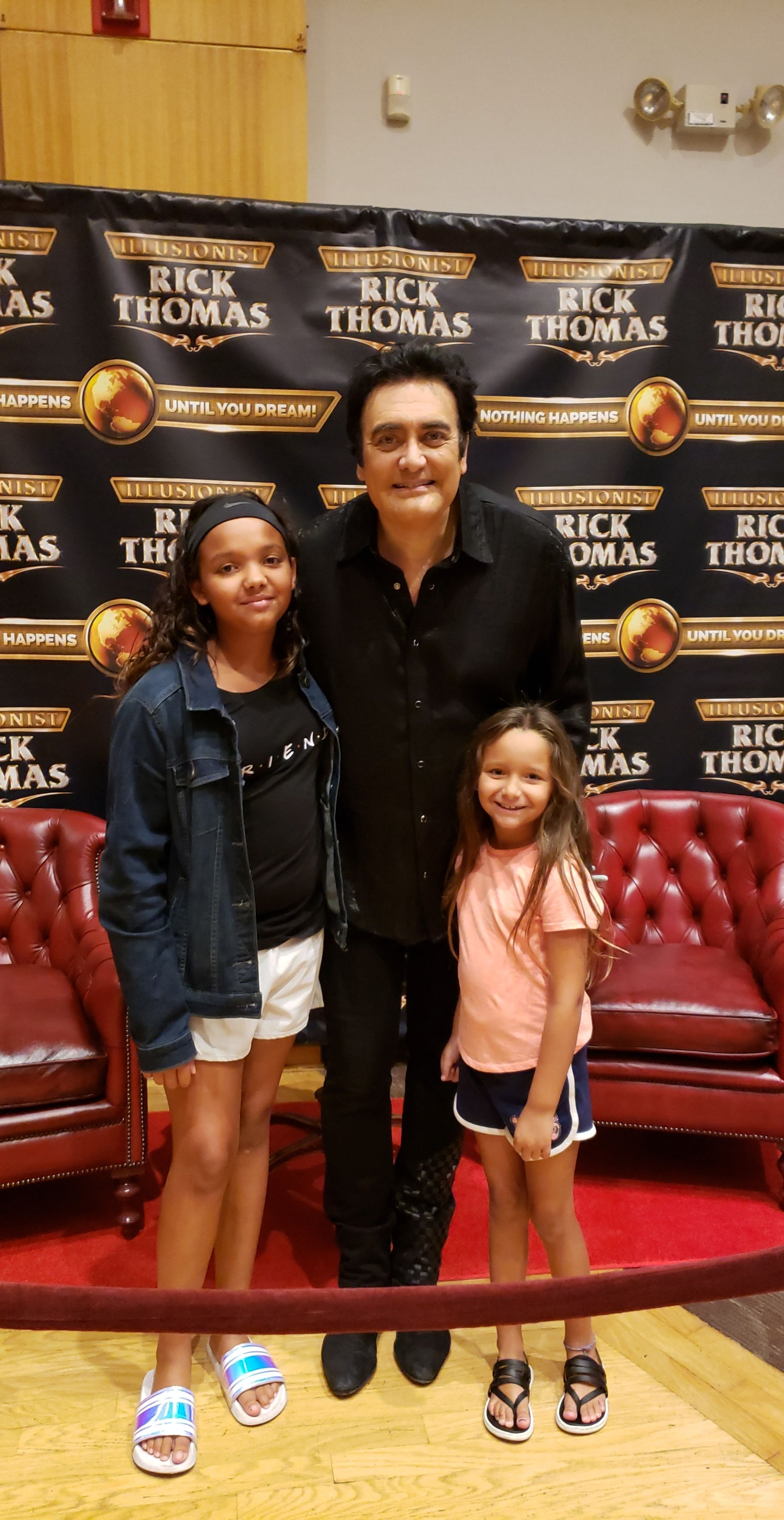 Picture with Rick Thomas at Rick Thomas Illusionist and Magic Show