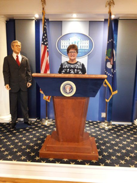 Podium at the National Presidential Wax Museum