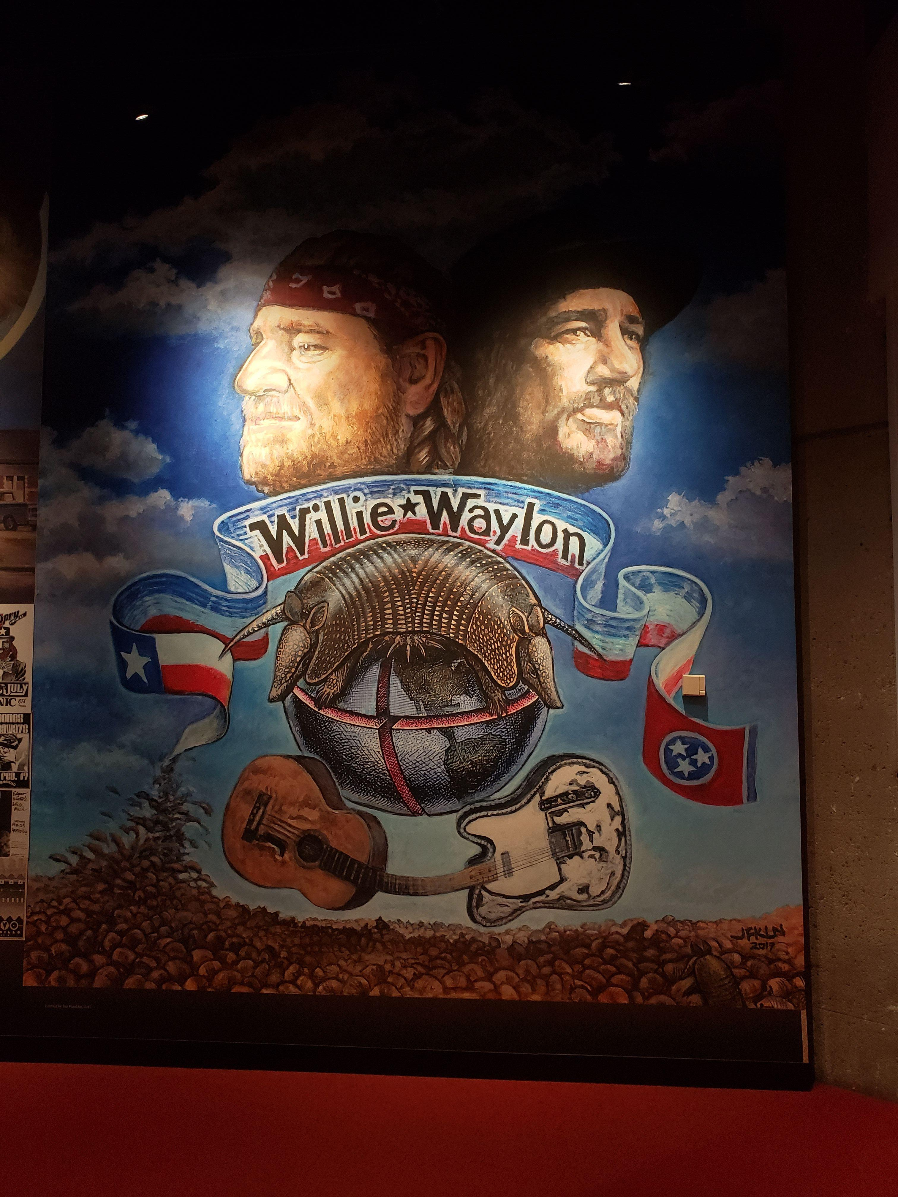 Willie and Waylon Picture at the Country Music Hall of Fame and Museum