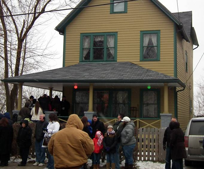 a christmas story convention at a christmas story house cleveland oh