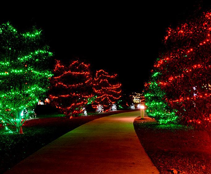 river lights at the arkansas river in tulsa ok - Christmas Lights Tulsa