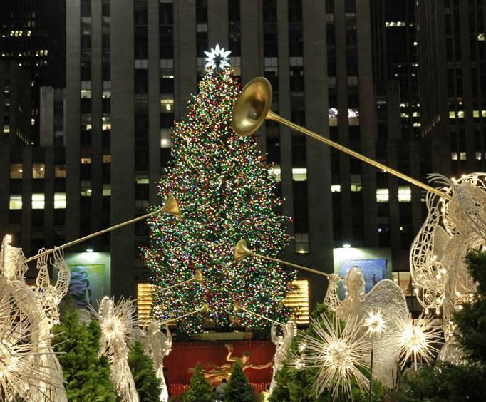 rockefeller center tree lighting ceremony in new york ny