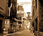 Old photo of Printer's Alley