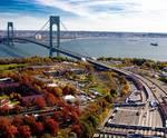 The bridge in the fall
