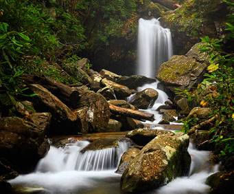 Grotto Falls at Great Smoky Mountains National Park