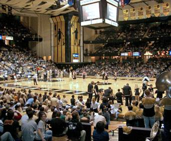 Vanderbilt games are a big draw, and the kids love seeing Mr. Commodore, the school's mascot.