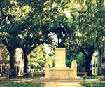 Washington Square in Savannah, GA, historical