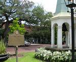 Old City Exchange Bell Plaque and gazebo