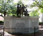 Franklin Square in Savannah, GA, monument