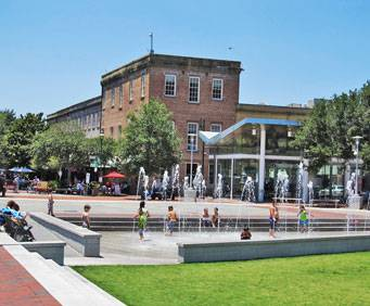 Ellis Square in Savannah, GA