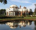 Outside view of Monticello and pond
