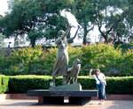 The Waving Girl Statue in Savannah, GA