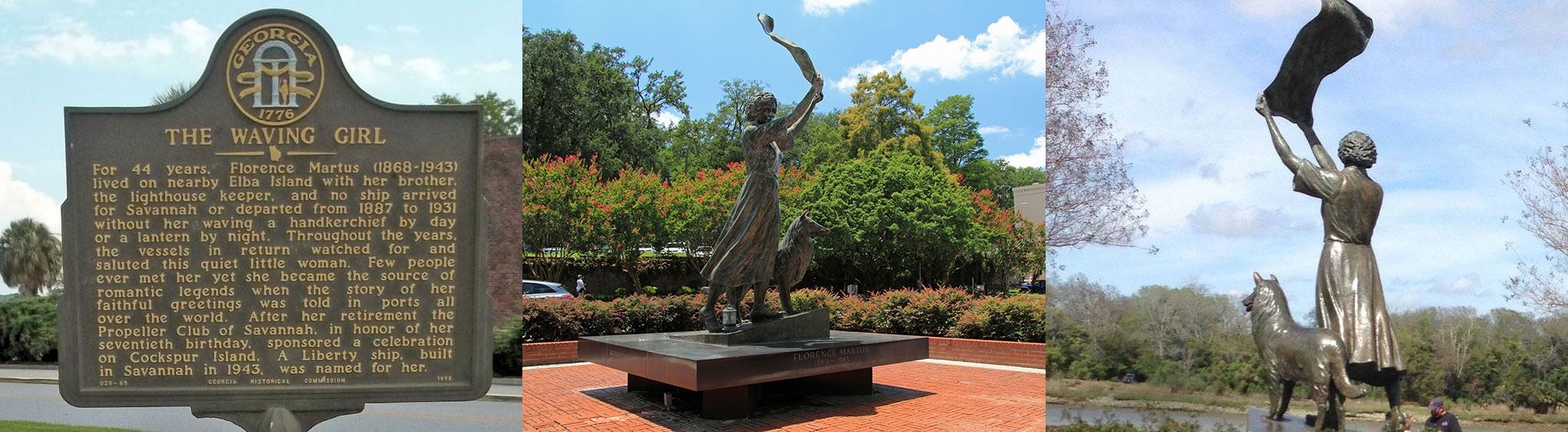 The Waving Girl Statue