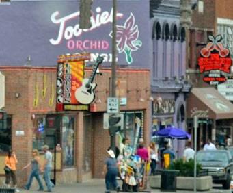 Honky Tonk Row in Nashville, TN