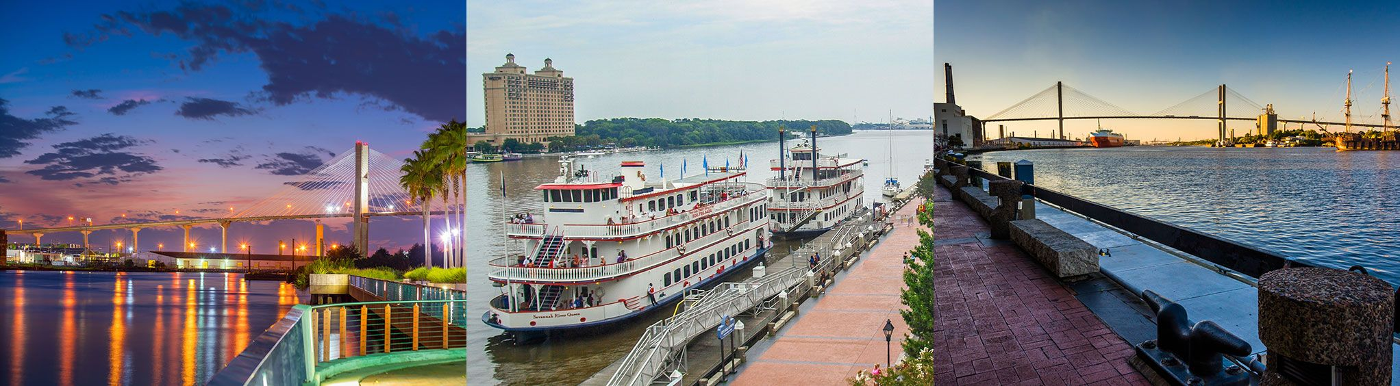 Savannah River in Savannah, GA