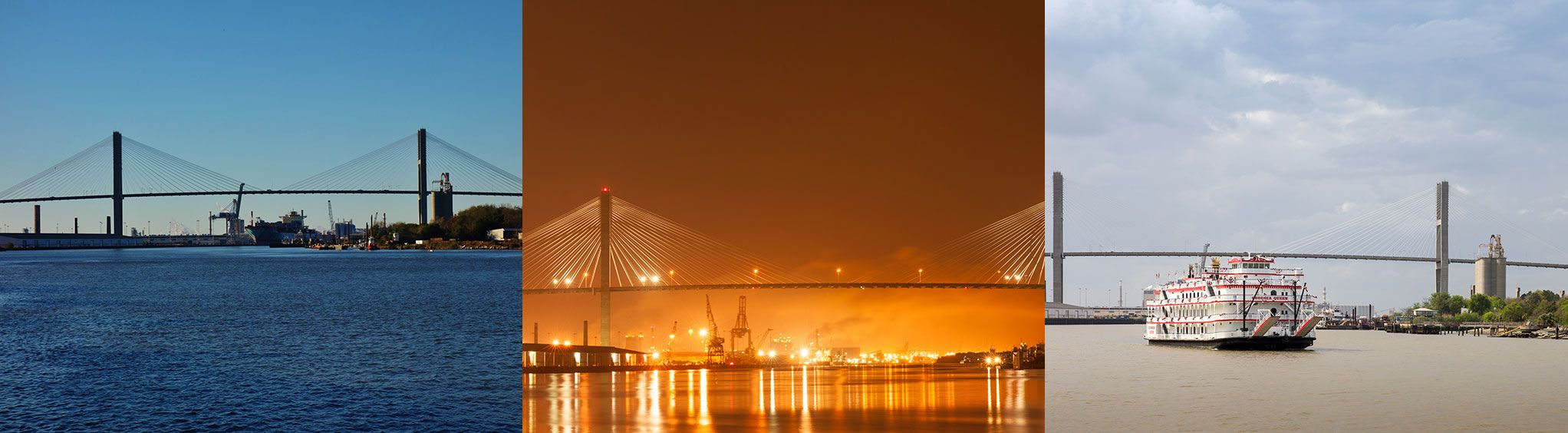 Talmadge Memorial - cable-stayed bridge in Savannah, GA