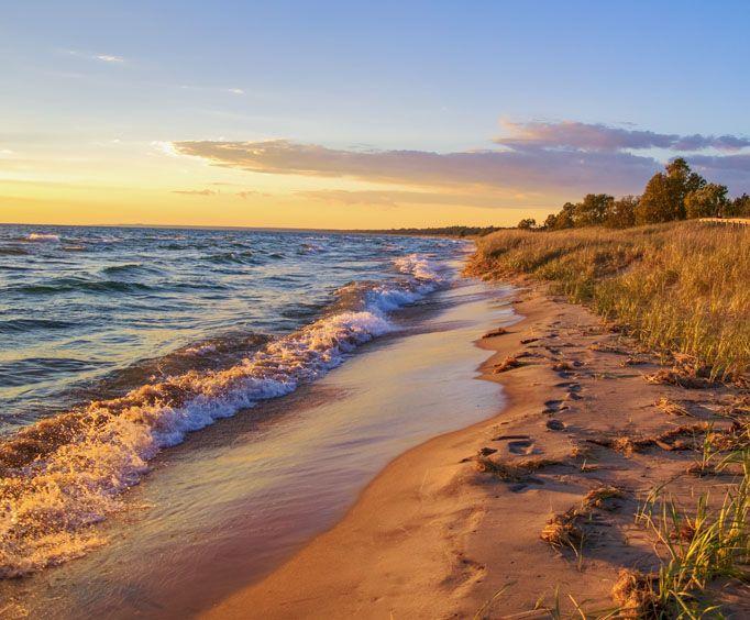 Lake Michigan Near Mackinac Island  Mi