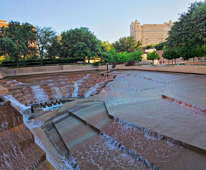 Fort Worth Water Gardens in Fort Worth TX