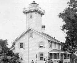 Old photo of the lighthouse
