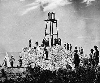 Old photo of Morris Island lighthouse