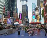 Times Square resting area