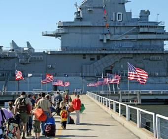 Uss Yorktown At Patriots Point Naval Maritime Museum In Charleston Sc