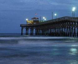 The fishing pier at night