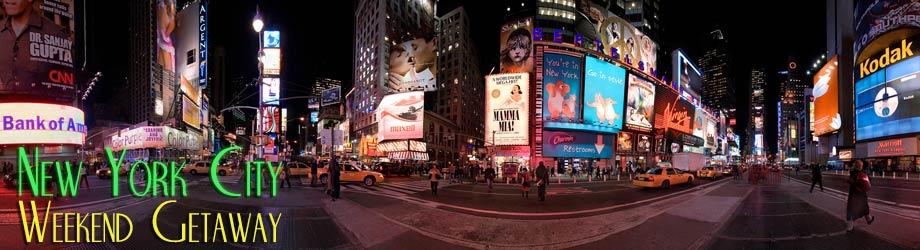 New york city weekend getaway for Weekend getaways in new york