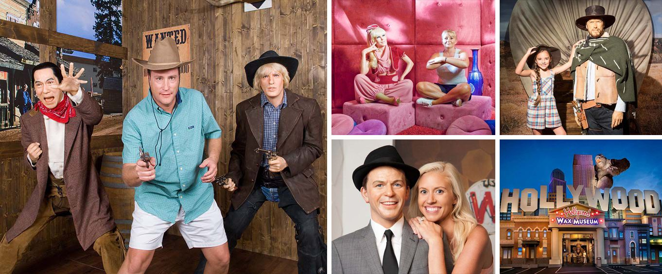 Hollywood Wax Museum Collage