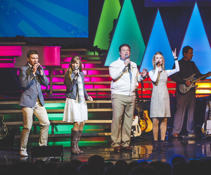 Group Singing on Stage