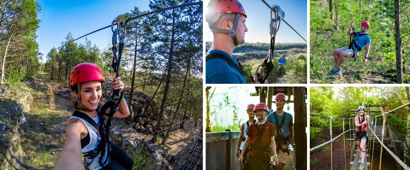 Branson Zipline and Canopy Tours Collage