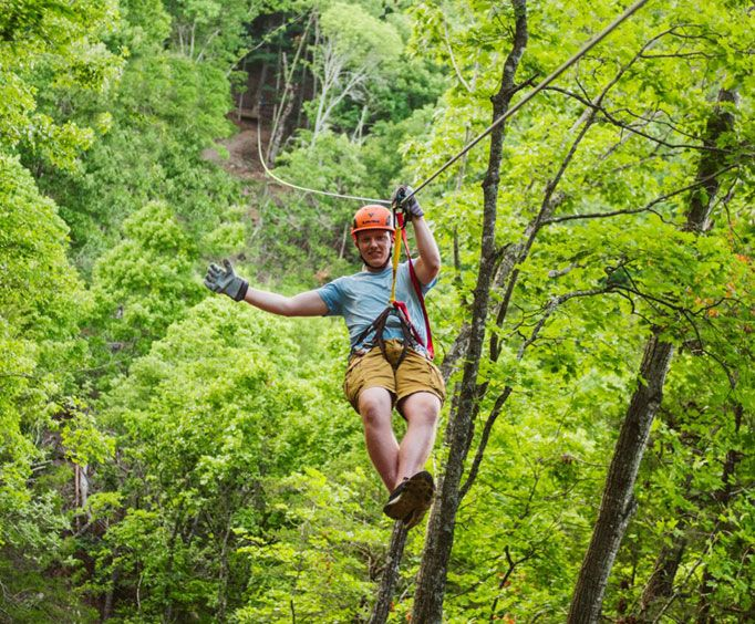 Beautiful Views at Shepherd of the Hills Zipline Canopy Tours