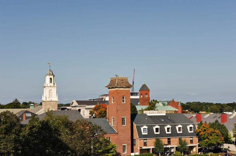 Salem rooftops and church