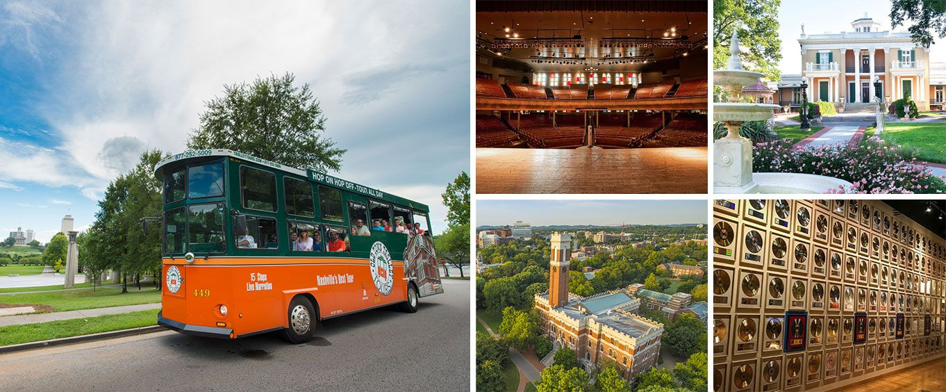 Explore with the Nashville Old Town Trolley Tour