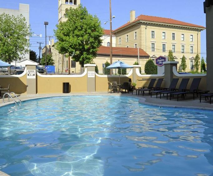 Outdoor Pool at Hampton Inn NashvilleVanderbilt