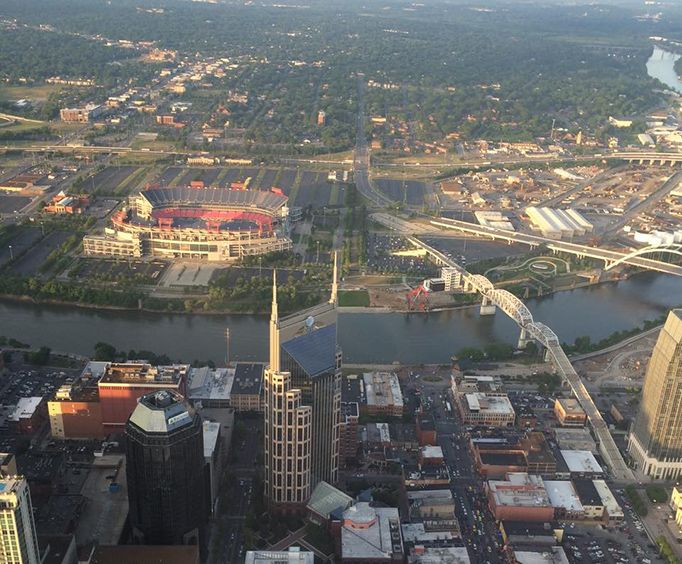 View of the City with Nashville Helicopter Tours